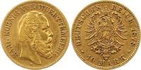 10 Mark Gold 1878  F Württemberg Karl 1864-1891. Sehr schön  235,00 EUR  zzgl. 4,00 EUR Versand