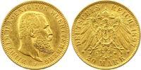 20 Mark Gold 1897  F Württemberg Wilhelm II. 1891-1918. Sehr schön +  345,00 EUR kostenloser Versand