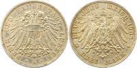 3 Mark 1908 Lübeck  Fast vorzüglich  165,00 EUR  zzgl. 4,00 EUR Versand