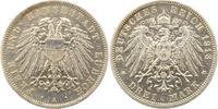 3 Mark 1913 Lübeck  Winz. Randfehler, vorzüglich  165,00 EUR  zzgl. 4,00 EUR Versand