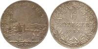 6 Kreuzer 1853 Frankfurt-Stadt  Sehr schön +  25,00 EUR  zzgl. 4,00 EUR Versand