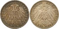 3 Mark 1908  A Lübeck  Schöne Patina. Winz. Randfehler, vorzüglich  155,00 EUR  zzgl. 4,00 EUR Versand