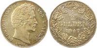 1/2 Gulden 1847 Bayern Ludwig I. 1825-1848. Schöne Patina. Sehr schön +  50,00 EUR  zzgl. 4,00 EUR Versand