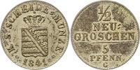1/2 Neugroschen 1841  G Sachsen-Albertinische Linie Friedrich August II... 32,00 EUR  zzgl. 4,00 EUR Versand