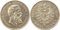 2 Mark 1888  A Preußen Friedrich III. 1888. Henkelspur, sehr schön  35,00 EUR  zzgl. 4,00 EUR Versand