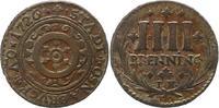 4 Pfennig 1726 Osnabrück-Stadt  Sehr schön  22,00 EUR  zzgl. 4,00 EUR Versand
