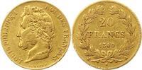 20 Francs Gold 1840  A Frankreich Louis Philipp 1830-1848. Sehr schön  245,00 EUR  zzgl. 4,00 EUR Versand