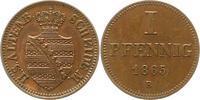 Pfennig 1865  B Sachsen-Altenburg Ernst 1853-1908. Vorzüglich - Stempel... 115,00 EUR  zzgl. 4,00 EUR Versand