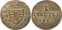 1 Kreuzer 1805  L Sachsen-Coburg-Saalfeld Franz 1800-1806. Sehr schön -... 45,00 EUR  zzgl. 4,00 EUR Versand