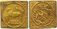 1/4 Lammdukatenklippe Gold 1700 Nürnberg-Stadt  Fast Stempelglanz  375,00 EUR kostenloser Versand