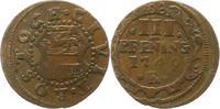 Cu 3 Pfennig 1749  R Mecklenburg-Rostock, Stadt  Winz. Prägeschwäche, s... 12,00 EUR  zzgl. 4,00 EUR Versand