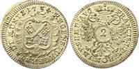 2 Kreuzer zu 1/2 Batzen 1754 Regensburg-Stadt  Vorzüglich - Stempelglanz  38,00 EUR  zzgl. 4,00 EUR Versand