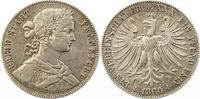 Taler 1860 Frankfurt-Stadt  Sehr schön  45,00 EUR  zzgl. 4,00 EUR Versand