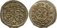 Kreuzer 1667 Nürnberg-Stadt  Schrötlingsfehler, vorzüglich  95,00 EUR  zzgl. 4,00 EUR Versand