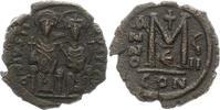 Follis 565 - 578 n. Chr.  Justinus II. 565 - 578. Randfehler, Sehr schön  55,00 EUR  zzgl. 4,00 EUR Versand