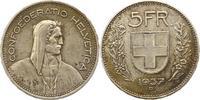 5 Franken 1937  B Schweiz-Eidgenossenschaft  Sehr schön +  14,00 EUR  zzgl. 4,00 EUR Versand