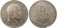 5 Mark 1875  B Preußen Wilhelm I. 1861-1888. Randfehler, schön  22,00 EUR  zzgl. 4,00 EUR Versand
