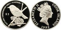 5 Dollar 1999 Cook-Inseln Elizabeth II. Seit 1952. Polierte Platte  35,00 EUR  zzgl. 4,00 EUR Versand