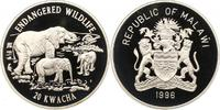 20 Kwacha 1996 Malawi Republik 1964 - heute. Polierte Platte  40,00 EUR  zzgl. 4,00 EUR Versand