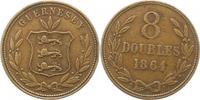 8 Doubles 1864 Großbritannien-Guernsey Guernsey 1000 - 2100. Sehr schön  25,00 EUR  zzgl. 4,00 EUR Versand