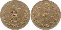 8 Doubles 1914 Großbritannien-Guernsey Guernsey 1000 - 2100. Vorzüglich  18,00 EUR  zzgl. 4,00 EUR Versand