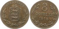 8 Doubles 1918 Großbritannien-Guernsey Guernsey 1000 - 2100. Sehr schön... 18,00 EUR  zzgl. 4,00 EUR Versand