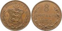 8 Doubles 1834 Großbritannien-Guernsey Guernsey 1000 - 2100. Sehr schön  22,00 EUR  zzgl. 4,00 EUR Versand
