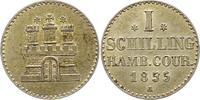 Schilling 1855  A Hamburg, Stadt  Vorzüglich +  15,00 EUR  zzgl. 4,00 EUR Versand