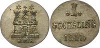 Sechsling 1841 Hamburg, Stadt  Sehr schön -vorzüglich  12,00 EUR  zzgl. 4,00 EUR Versand