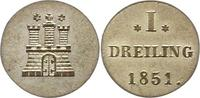 Dreiling 1851 Hamburg, Stadt  Vorzüglich - Stempelglanz  30,00 EUR  zzgl. 4,00 EUR Versand