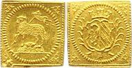 1/4 Lammdukatenklippe Gold 1700 Nürnberg-Stadt  Fast Stempelglanz  425,00 EUR kostenloser Versand