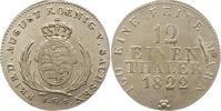 1/12 Taler 1822 Sachsen-Albertinische Linie Friedrich August I. 1806-18... 50,00 EUR  zzgl. 4,00 EUR Versand