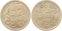 1/2 Gulden 1923 Danzig  Vorzüglich  50,00 EUR  zzgl. 4,00 EUR Versand