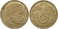 2 Mark 1938  D Drittes Reich  Starker Prägeausfall. Sehr schön  35,00 EUR  zzgl. 4,00 EUR Versand