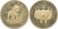 10 Francs 1968 Niger  Schöne Patina. Polierte Platte  45,00 EUR  zzgl. 4,00 EUR Versand