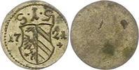 Einseitiger Pfennig 1721 Nürnberg-Stadt  Vorzüglich +  38,00 EUR  zzgl. 4,00 EUR Versand