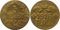 5 Heller Dünnabschlag 1 1916  T Deutsch Ostafrika  Fast vorzüglich  45,00 EUR  zzgl. 4,00 EUR Versand
