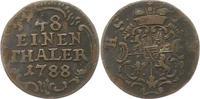 1/48 Taler 1788 Sachsen-Hildburghausen Friedrich 1780-1826. Prägeschwäc... 12,00 EUR  zzgl. 4,00 EUR Versand