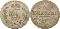 6 Kreuzer Beischlag 1821 Sachsen-Hildburghausen Friedrich 1780-1826. Sc... 7,00 EUR  zzgl. 4,00 EUR Versand