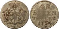 1/48 Taler 1734 Sachsen-Albertinische Linie Friedrich August II. 1733-1... 45,00 EUR  zzgl. 4,00 EUR Versand