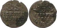 3 Pfennig 1761 Sachsen-Albertinische Linie Friedrich August II. 1733-17... 15,00 EUR  zzgl. 4,00 EUR Versand