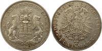 5 Mark 1888  J Hamburg  Sehr schön  125,00 EUR  zzgl. 4,00 EUR Versand