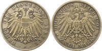 2 Mark 1904  A Lübeck  Vorzüglich  165,00 EUR  zzgl. 4,00 EUR Versand