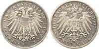 2 Mark 1907  A Lübeck  Vorzüglich +  175,00 EUR  zzgl. 4,00 EUR Versand