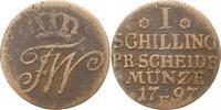 Cu-Schilling 1797  E Brandenburg-Preußen Friedrich Wilhelm II. 1786-179... 8,00 EUR  zzgl. 4,00 EUR Versand