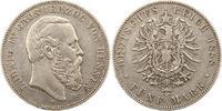 5 Mark 1888  A Hessen Ludwig IV. 1877-1892. Randfehler, schön - sehr sc... 1295,00 EUR kostenloser Versand