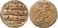 Schilling 1707  CG Brandenburg-Preußen Friedrich I. 1701-1713. Schön  9,00 EUR  zzgl. 4,00 EUR Versand