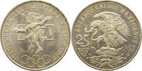 25 Pesos 1968 Mexiko Republik. Fast Stempelglanz  20,00 EUR  zzgl. 4,00 EUR Versand
