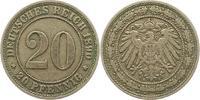 20 Pfennig 1890  E Kleinmünzen  Sehr schön  45,00 EUR  zzgl. 4,00 EUR Versand