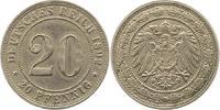 20 Pfennig 1892  D Kleinmünzen  Sehr schön  30,00 EUR  zzgl. 4,00 EUR Versand